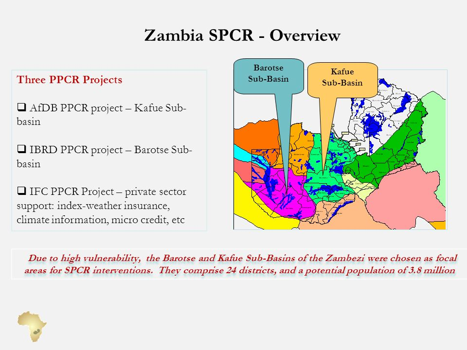 Zambia SPCR - Overview Three PPCR Projects