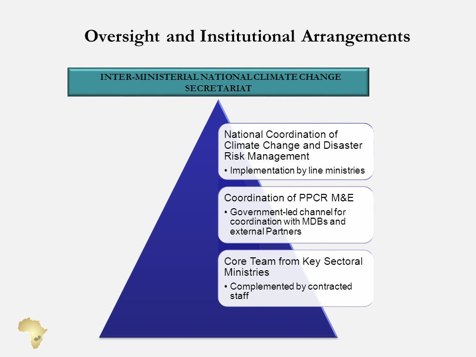 Oversight and Institutional Arrangements