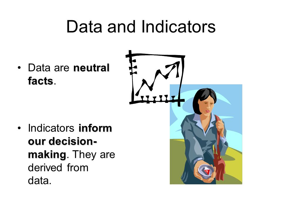 Data and Indicators Data are neutral facts.