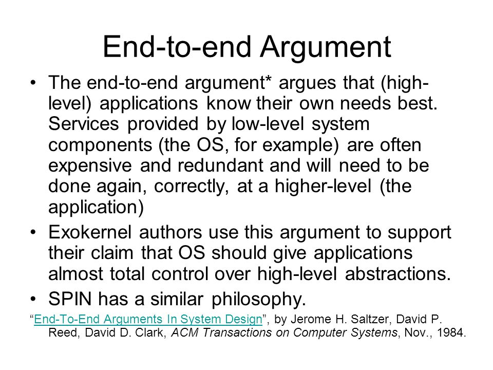 end to end argument How to stop an argument in its tracks or halt a fight with simple magic phrases updated on november 22, 2016  this really is the end of the world.