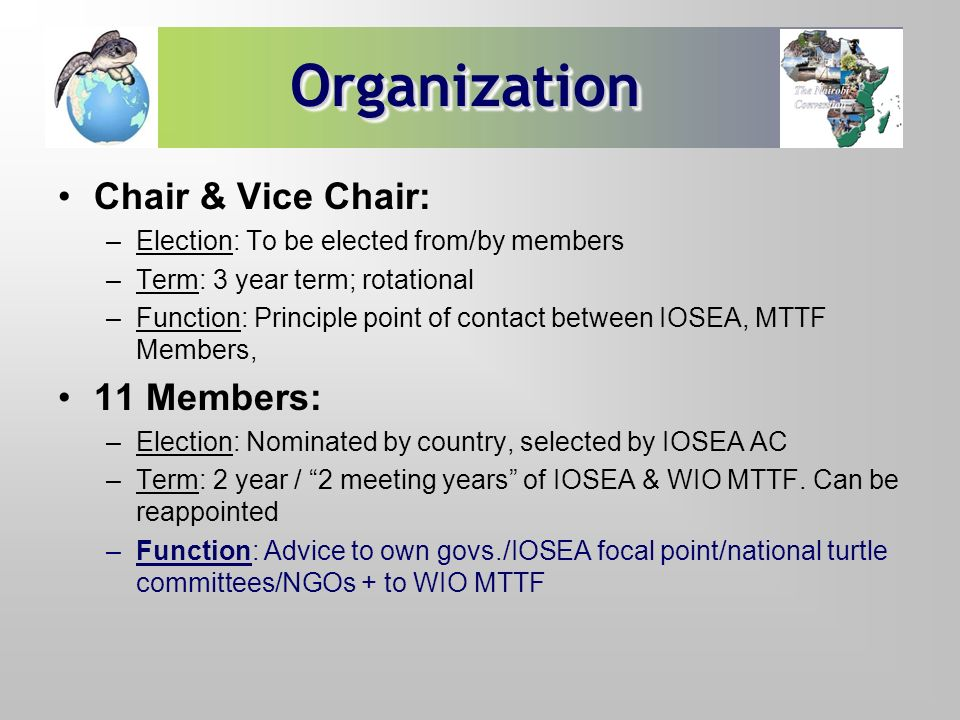 Organization Chair & Vice Chair: 11 Members: