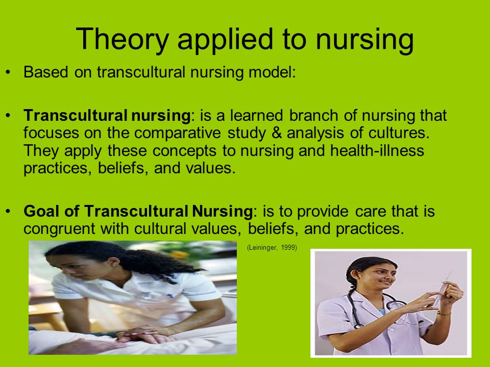 the basic concepts of transcultural nursing Transcultural nursing theory dr madeleine leininger became interested in anthropology on the 1950s, and it was the blending of this discipline with nursing that led to the transcultural nursing theory.