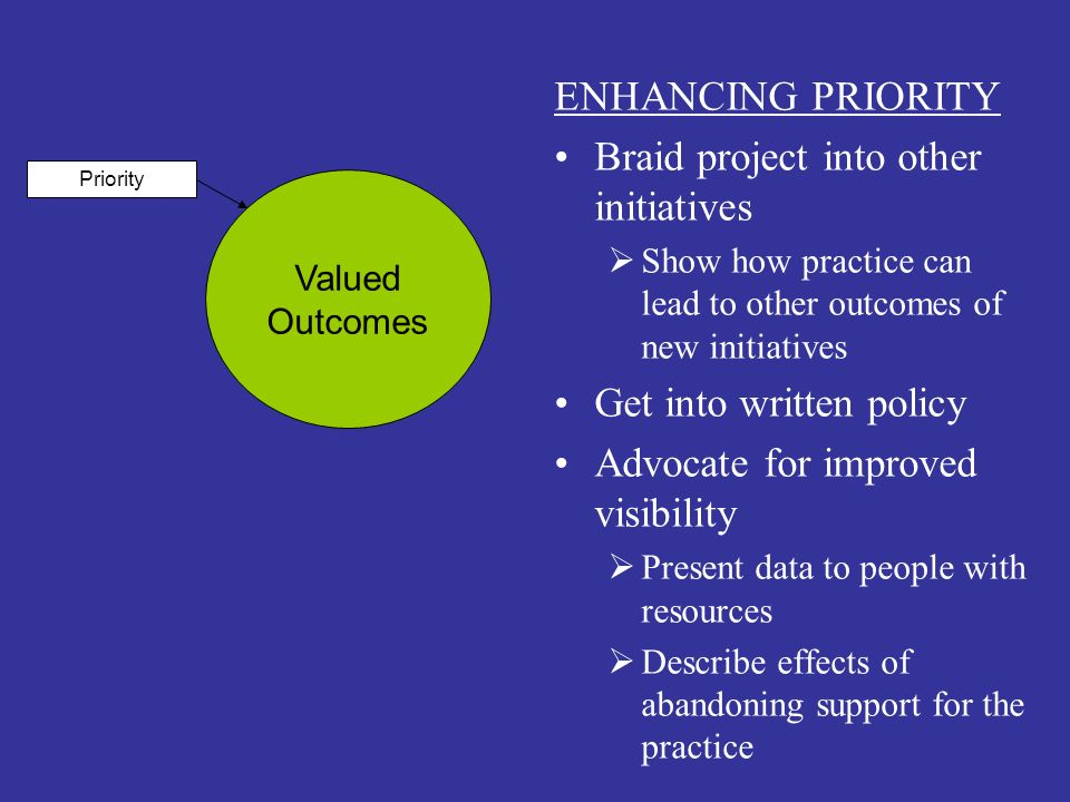 Braid project into other initiatives