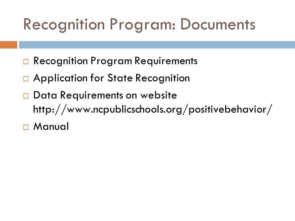 Recognition Program: Documents
