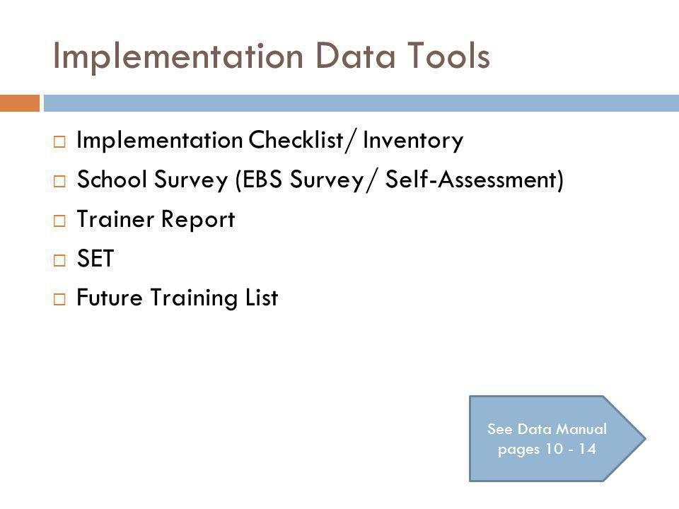 Implementation Data Tools