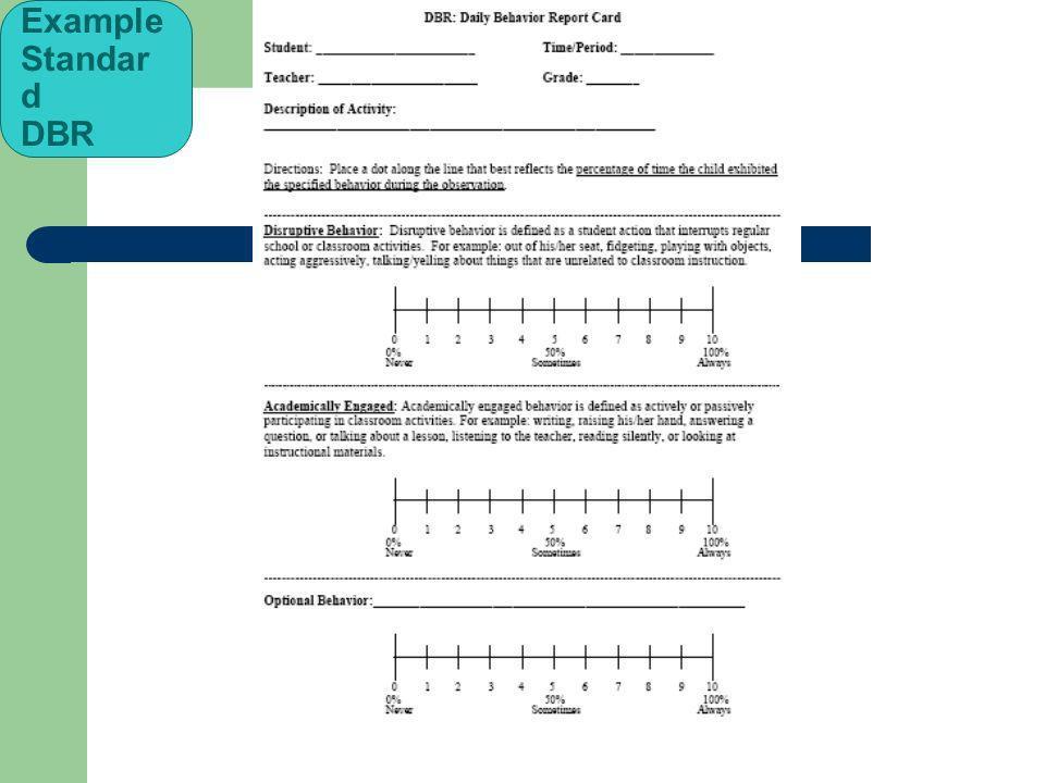 Example Standard DBR 73