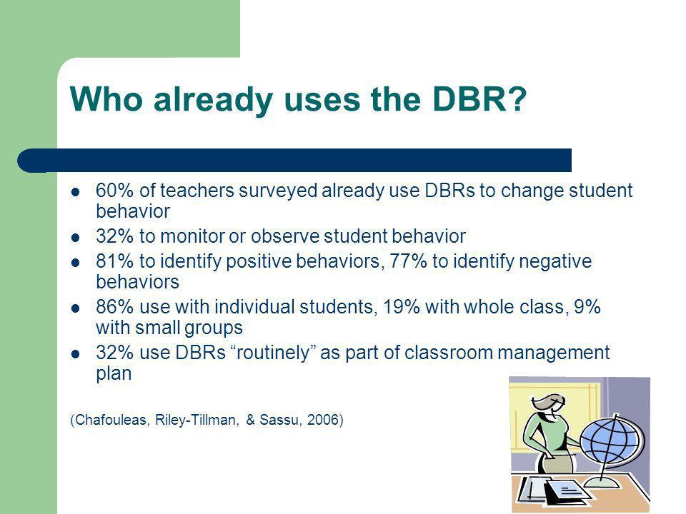 Who already uses the DBR