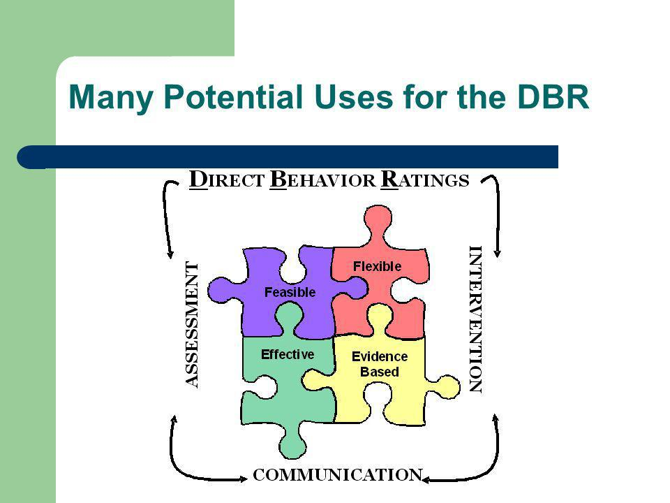 Many Potential Uses for the DBR