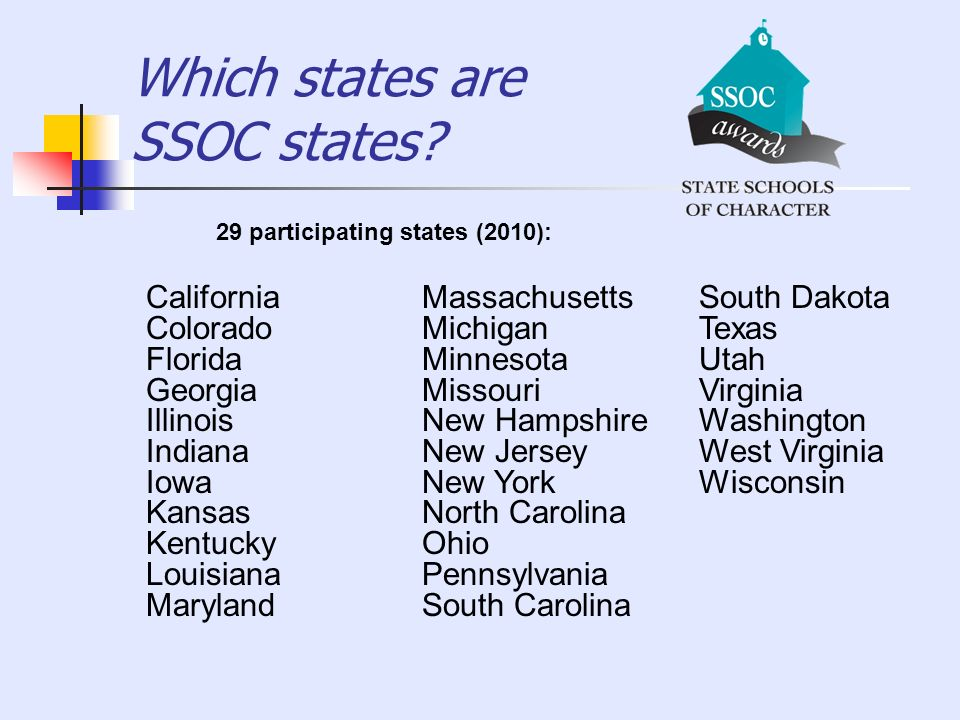 Which states are SSOC states
