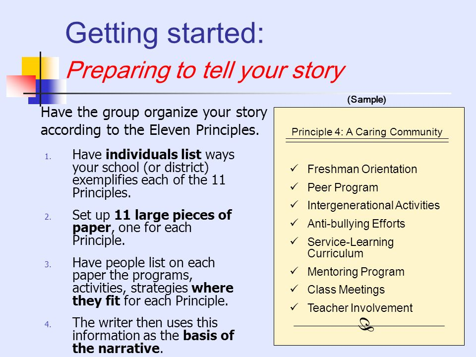 Getting started: Preparing to tell your story