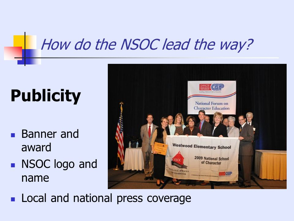 How do the NSOC lead the way