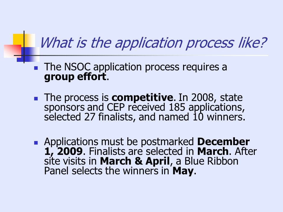 What is the application process like