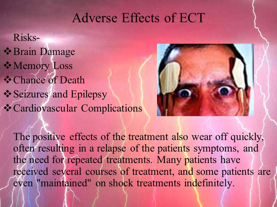 Electroconvulsive therapy for patients 15 - 2 3