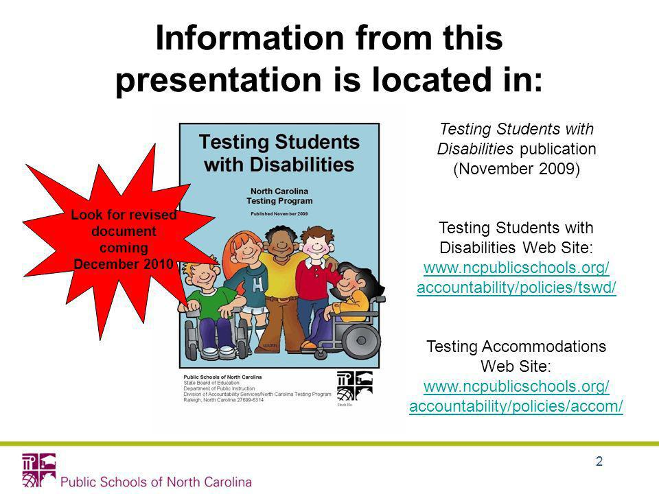 Information from this presentation is located in: