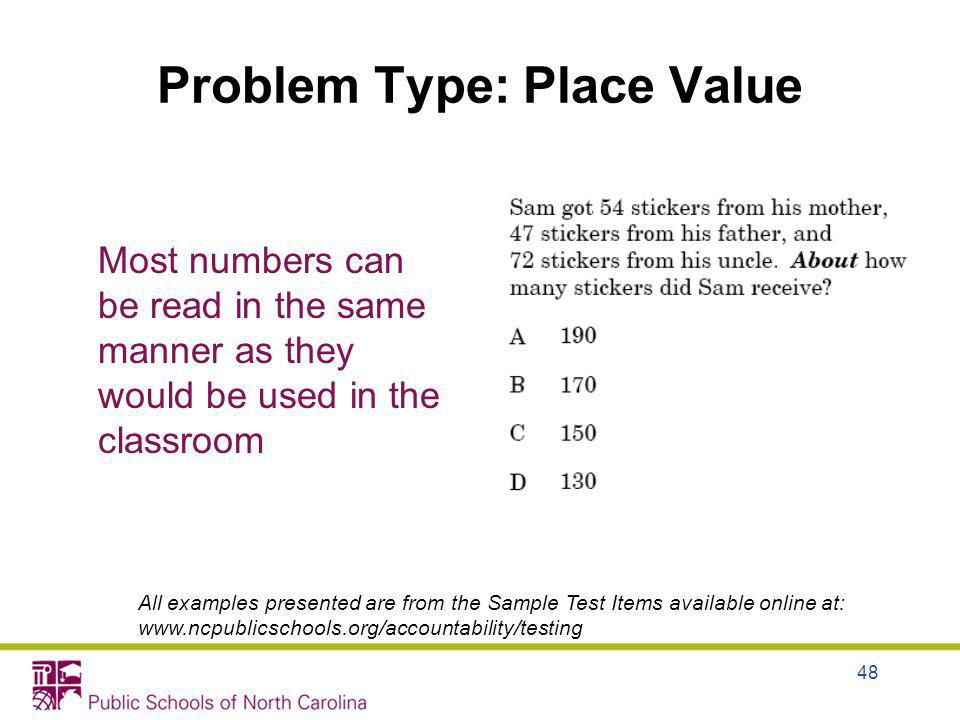 Problem Type: Place Value