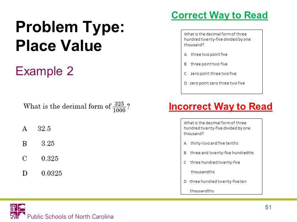 Problem Type: Place Value