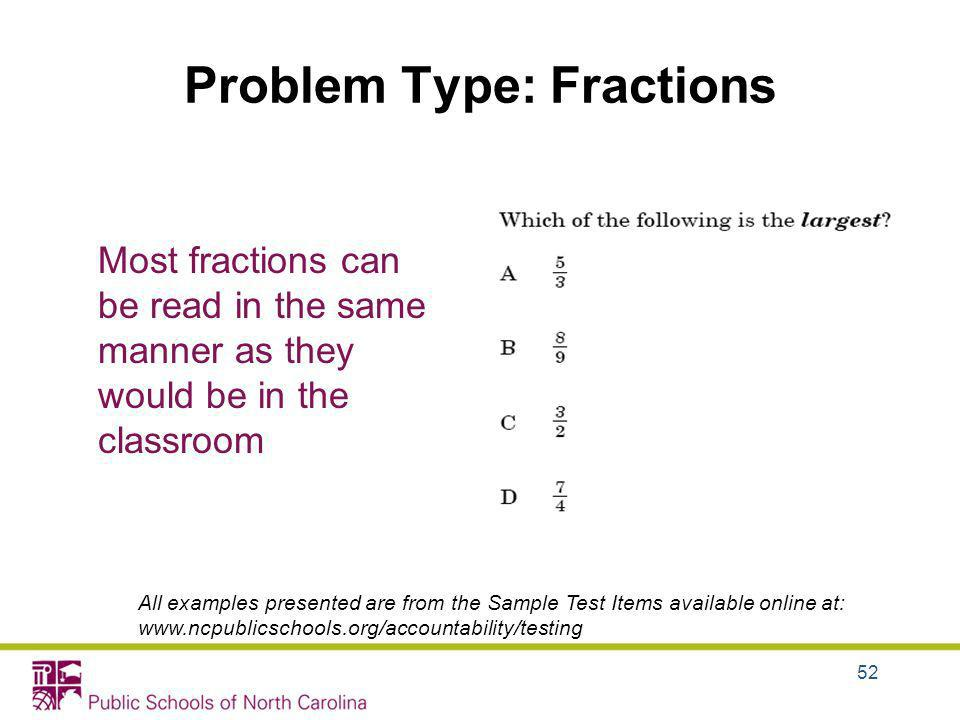 Problem Type: Fractions