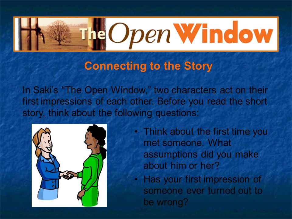 the open window by saki analysis