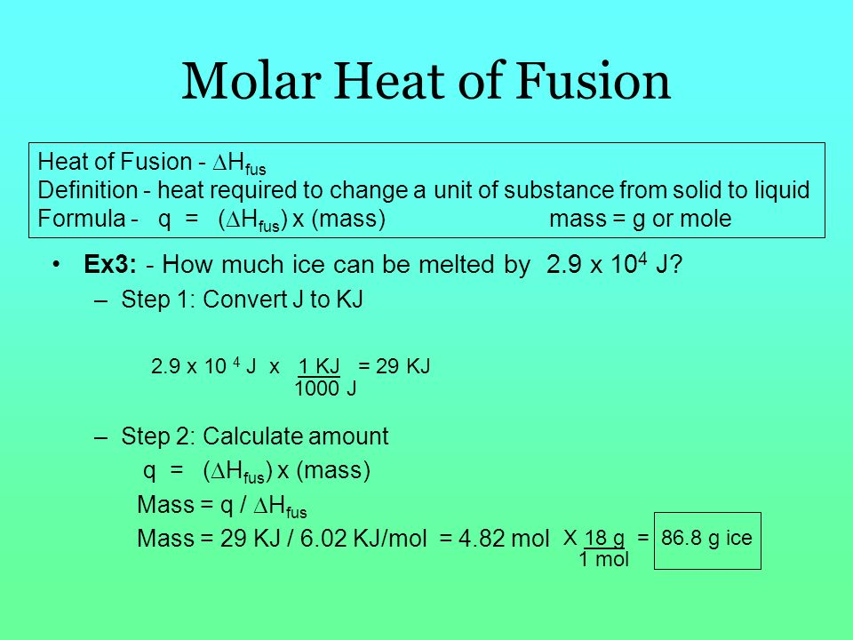 6 04 heat of fusion of ice Nylon 6 223 33‐53 57 82 ‐ 61 ‐ 23 32 ‐128  when iupilon / novarex is heat-treated, as indicated in other physical properties, the heat hardening.