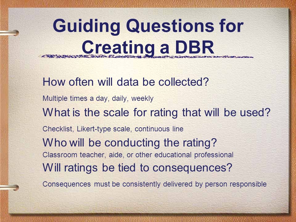Guiding Questions for Creating a DBR