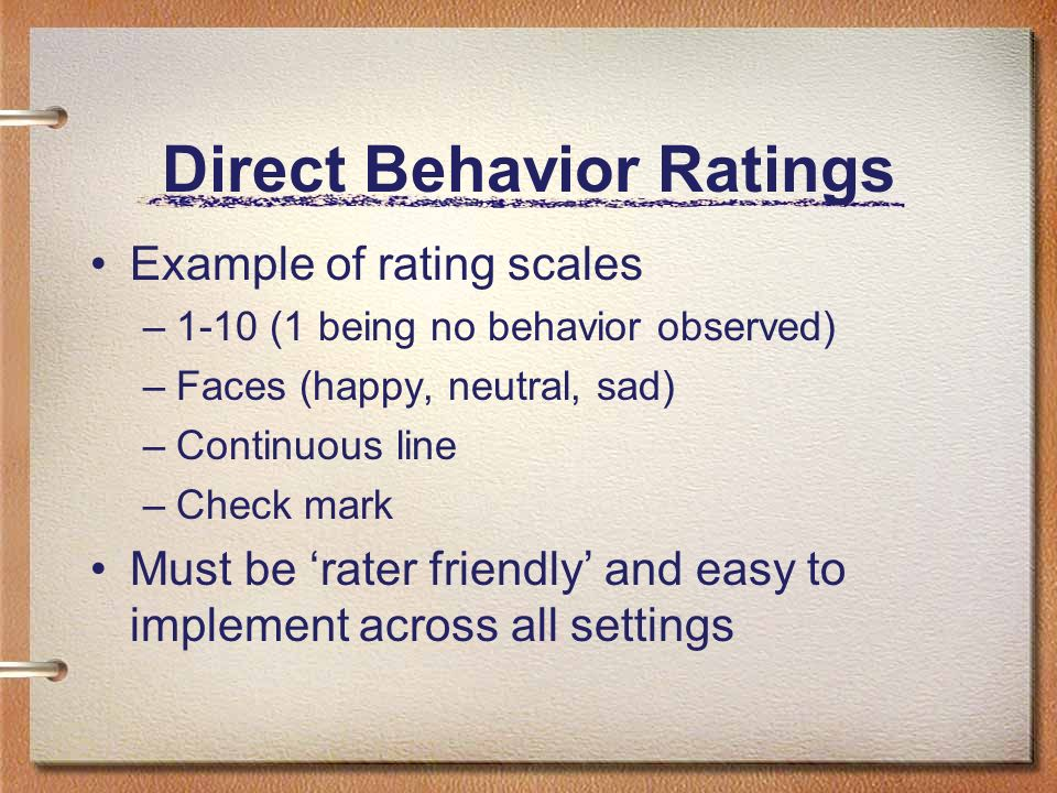 Direct Behavior Ratings