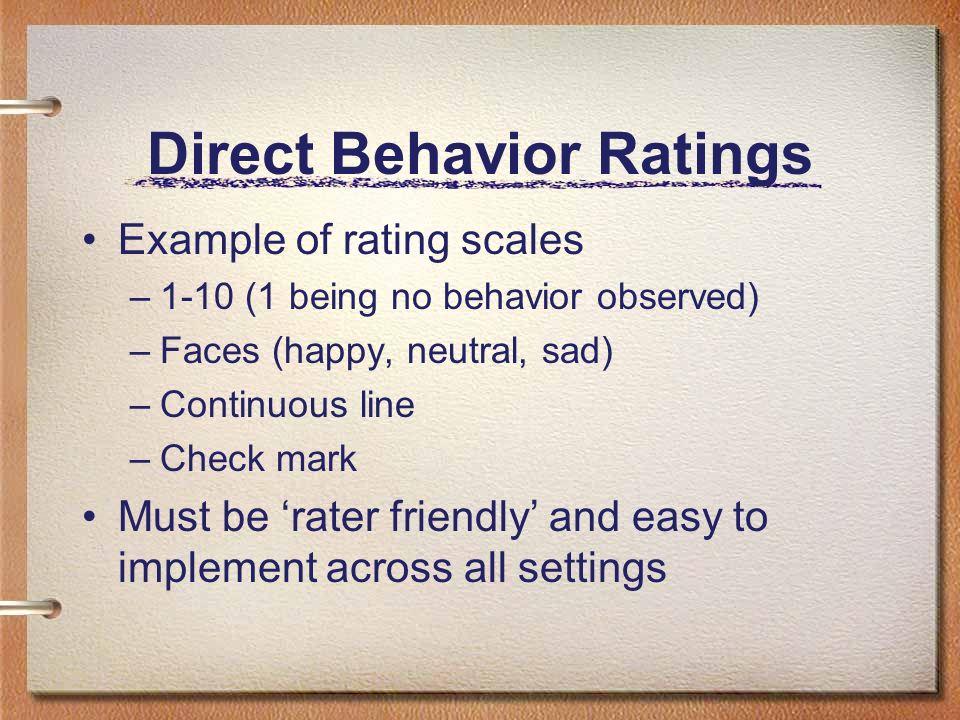 Direct Behavior Ratings