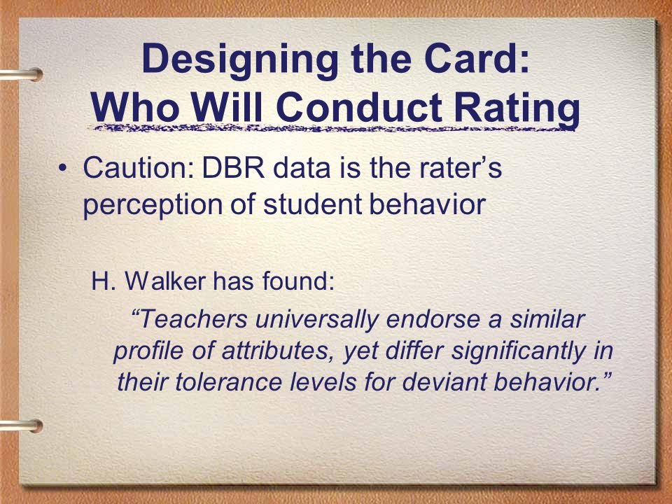 Designing the Card: Who Will Conduct Rating