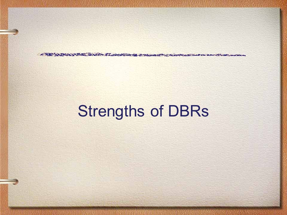 Strengths of DBRs