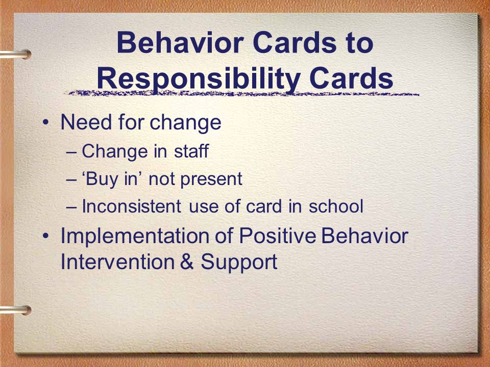 Behavior Cards to Responsibility Cards