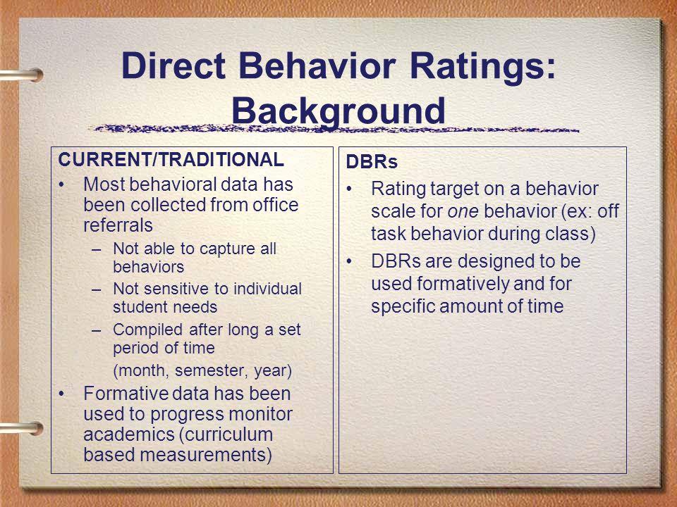 Direct Behavior Ratings: Background