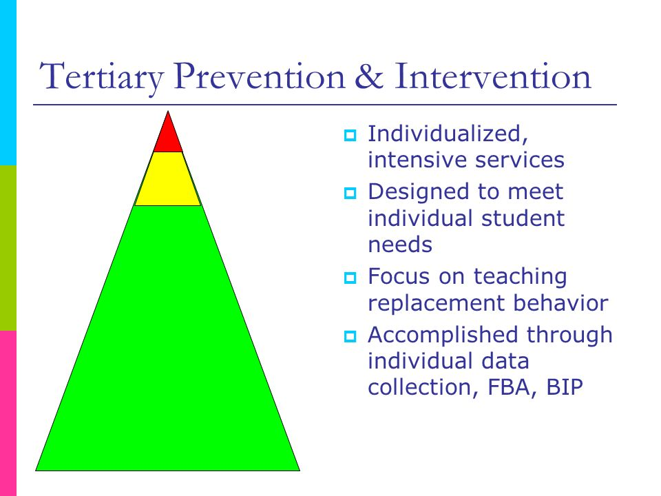 Tertiary Prevention & Intervention