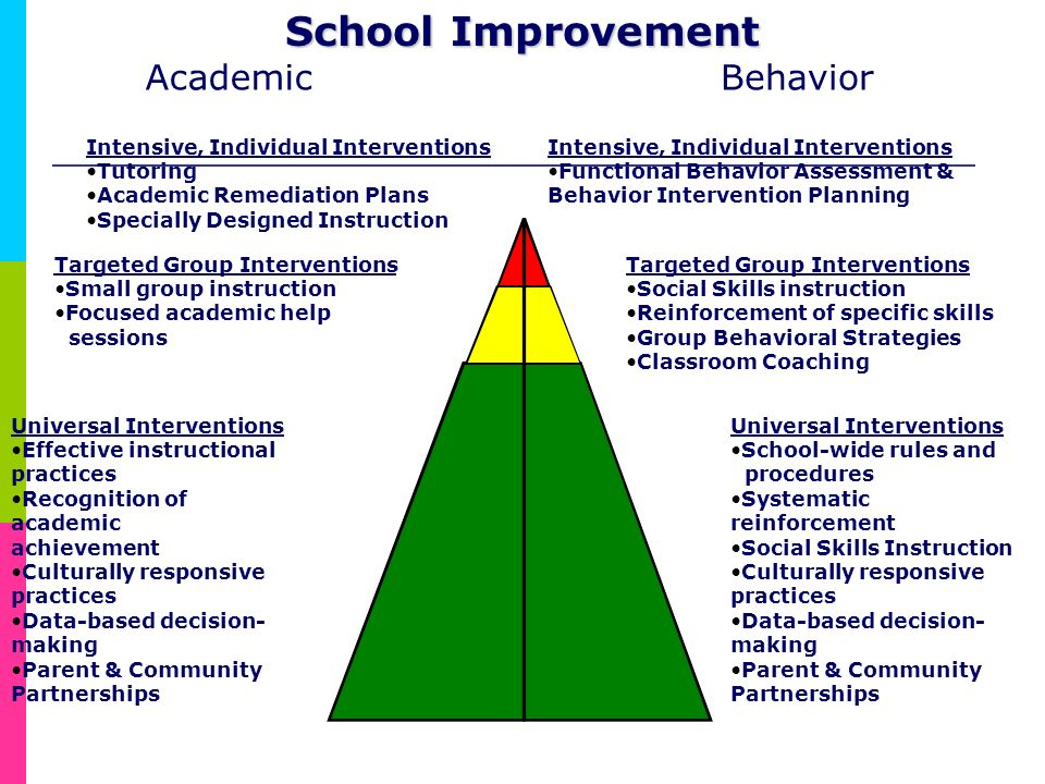 School Improvement Academic Behavior Targeted Group Interventions