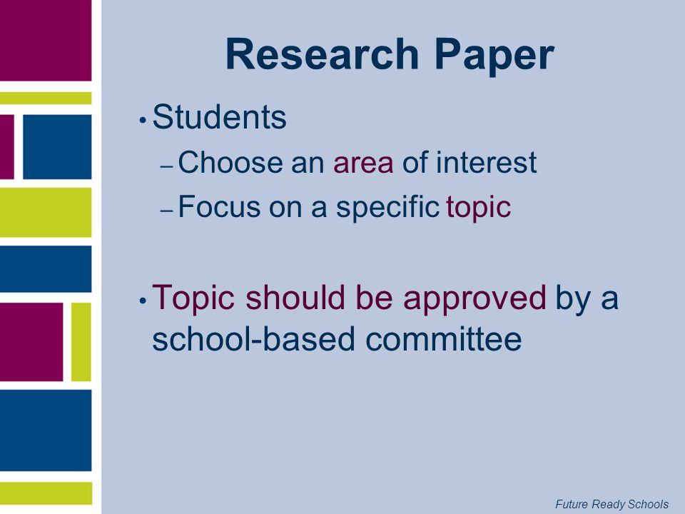 Research Paper Students