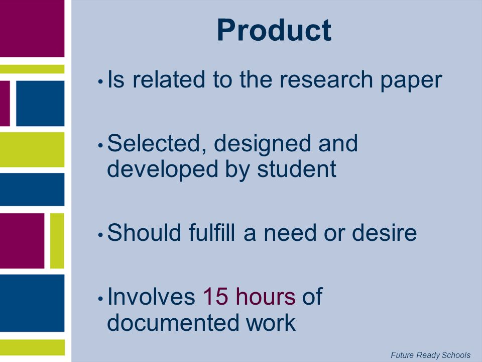 Product Is related to the research paper