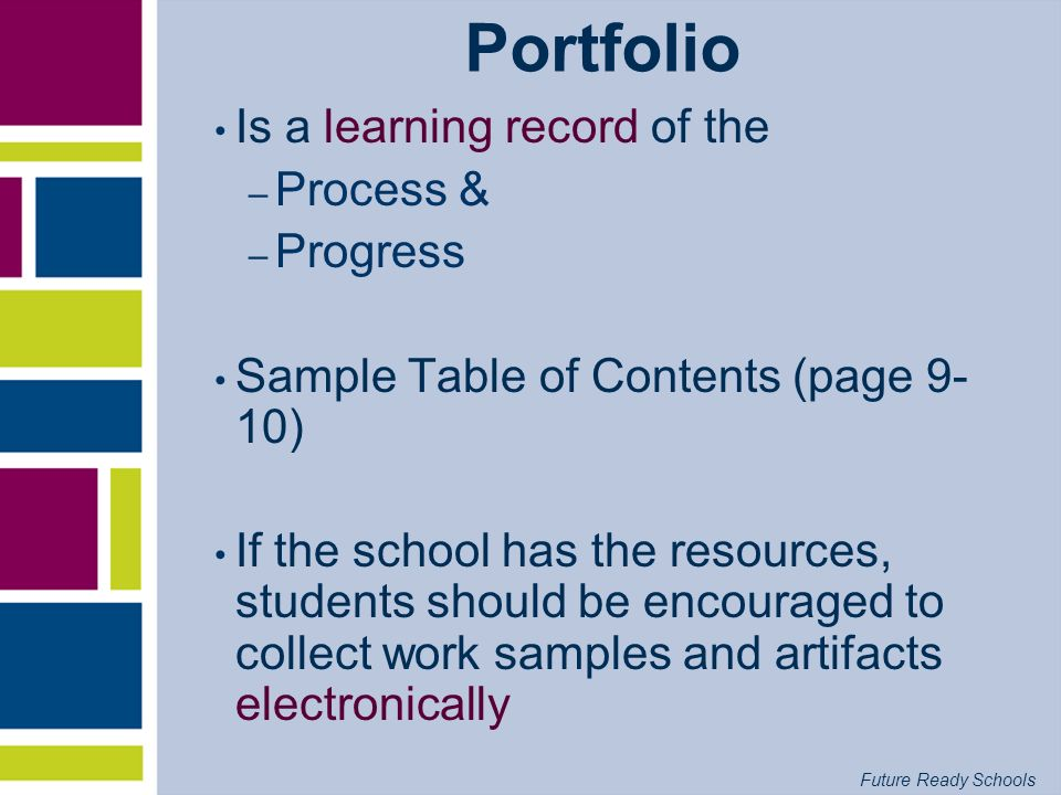 Portfolio Is a learning record of the Process & Progress