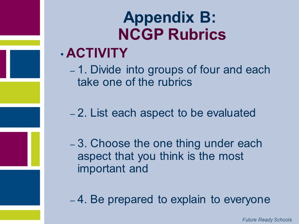 Appendix B: NCGP Rubrics