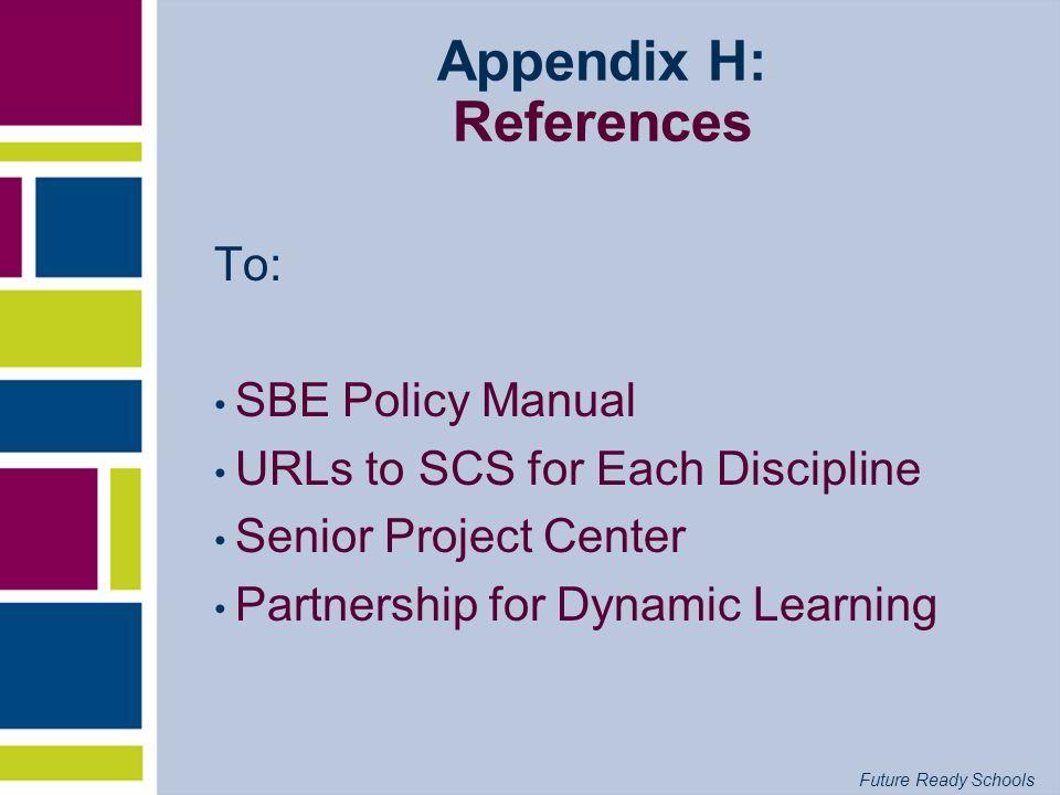Appendix H: References