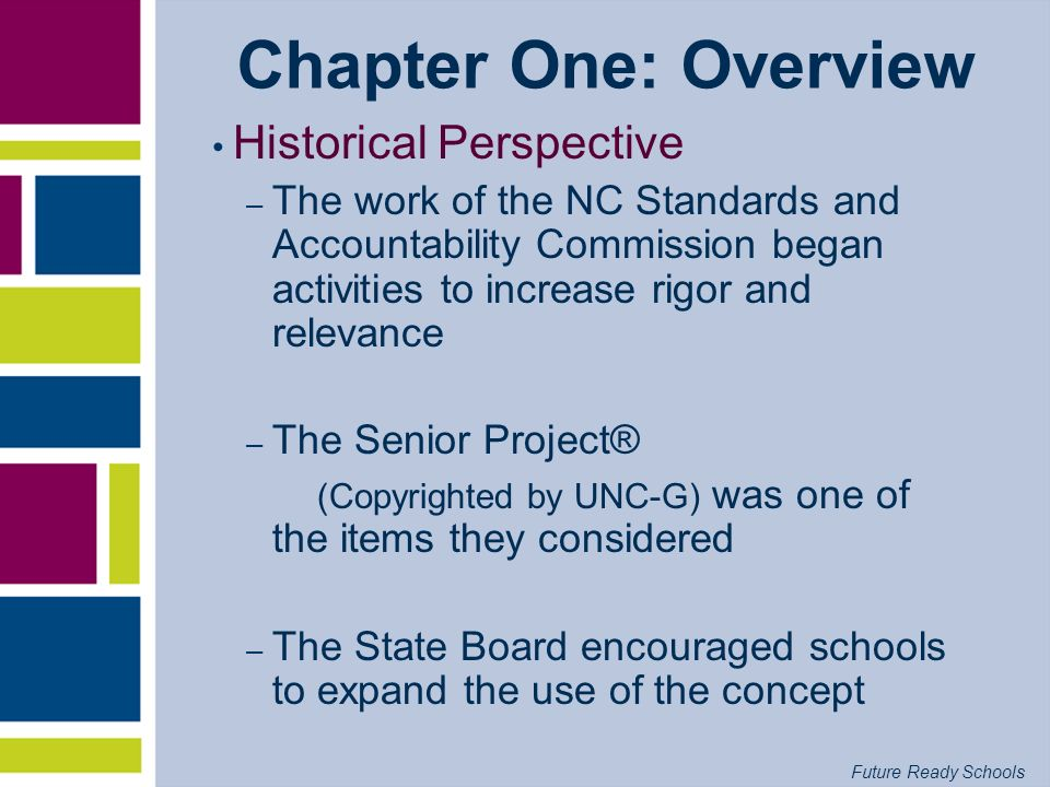 Chapter One: Overview Historical Perspective