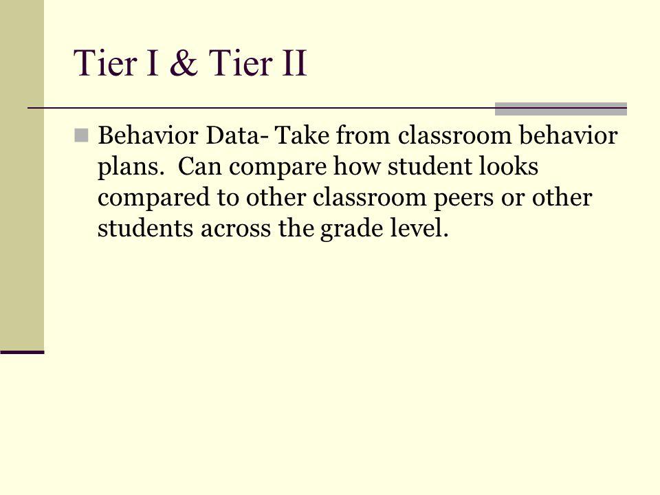 Tier I & Tier II