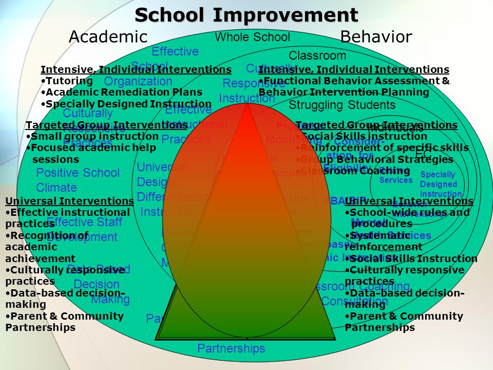 School Improvement Academic Behavior Whole School Effective Classroom