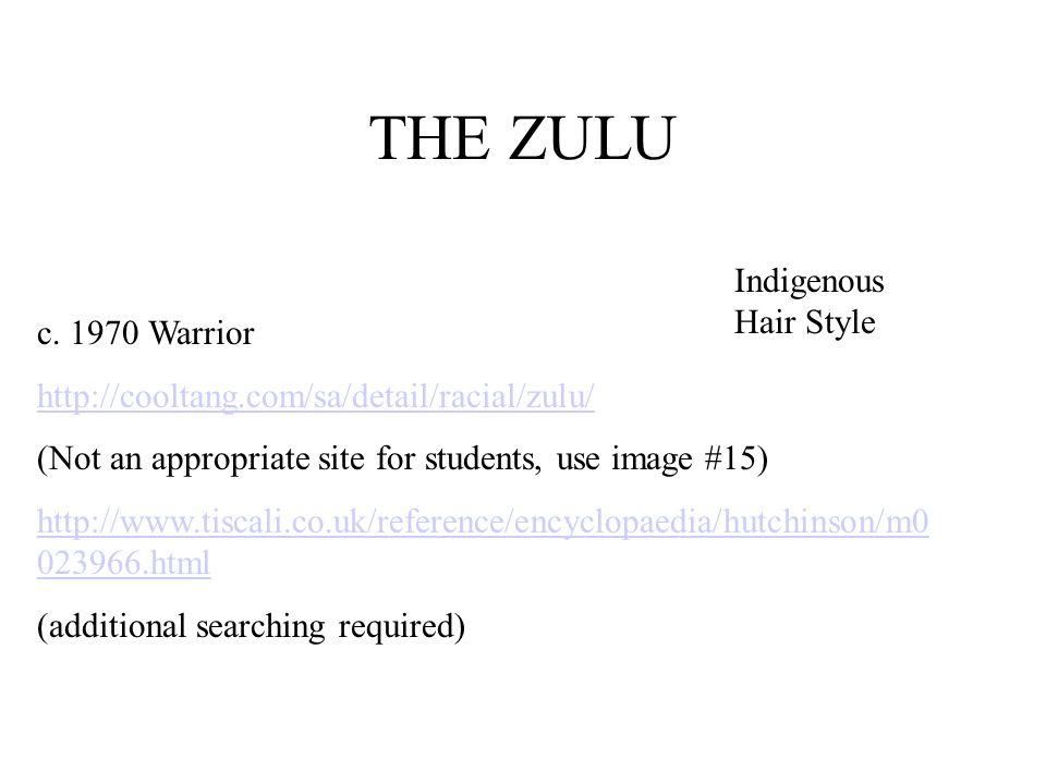 THE ZULU Indigenous Hair Style c. 1970 Warrior