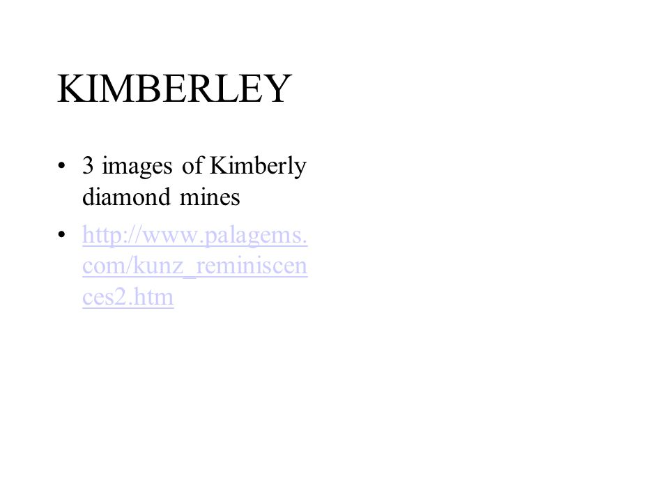 KIMBERLEY 3 images of Kimberly diamond mines