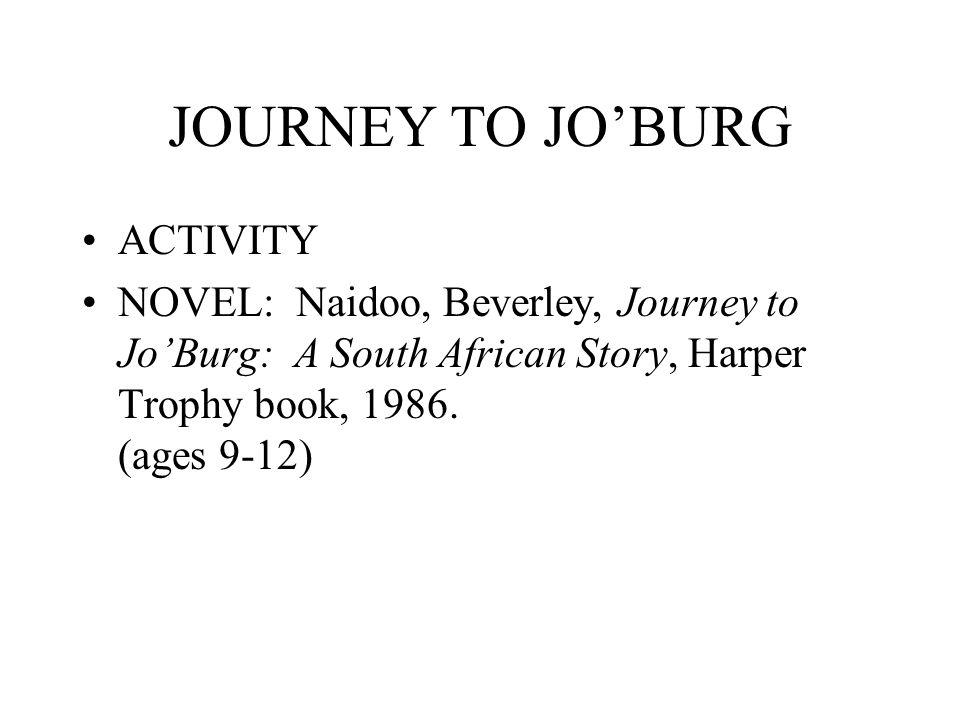 JOURNEY TO JO'BURG ACTIVITY