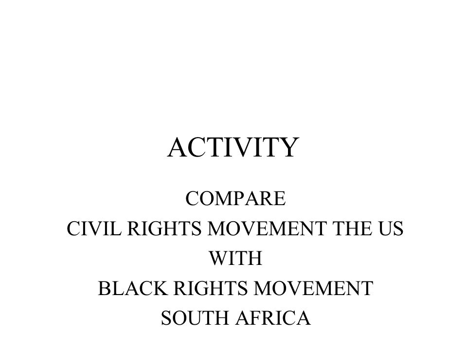 CIVIL RIGHTS MOVEMENT THE US