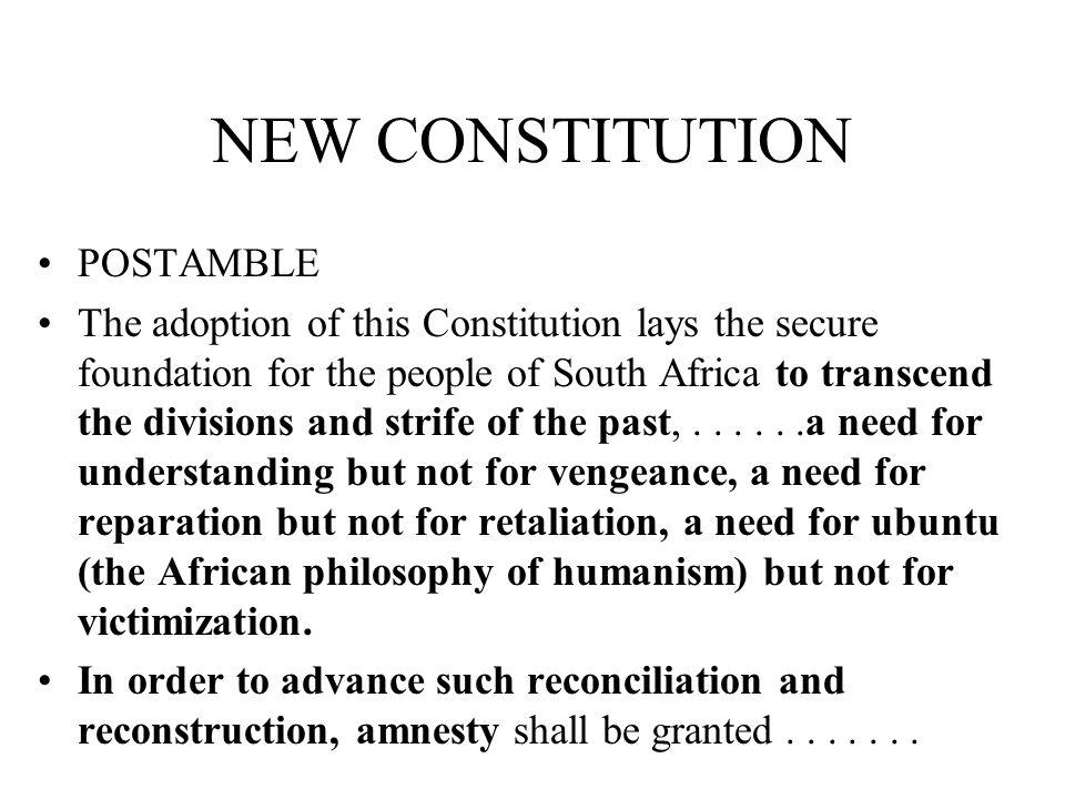 NEW CONSTITUTION POSTAMBLE