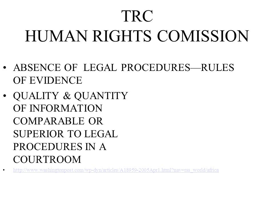 TRC HUMAN RIGHTS COMISSION