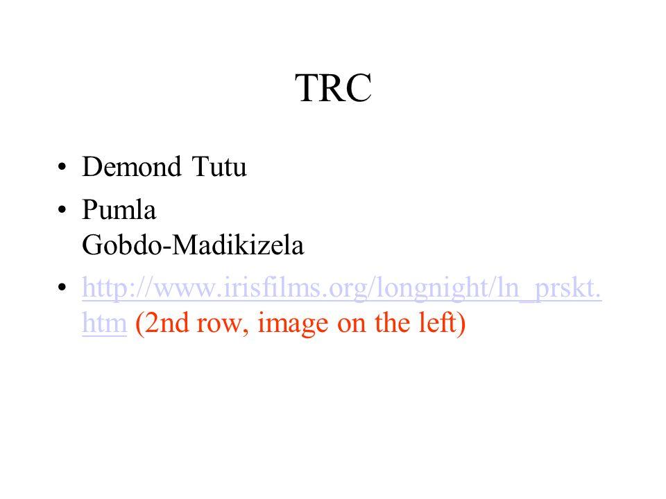 TRC Demond Tutu Pumla Gobdo-Madikizela