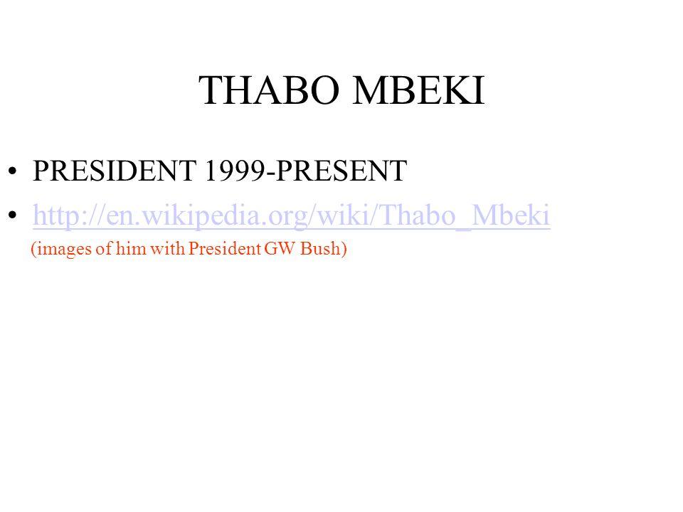 THABO MBEKI PRESIDENT 1999-PRESENT