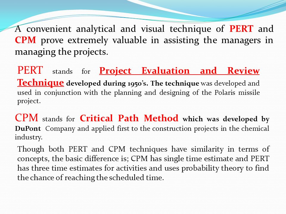 how mcdonald s uses pert and cpm Thsi video demonstrates how to create a pert/cpm chart using excel the case data is from my cis244 systems analysis course.