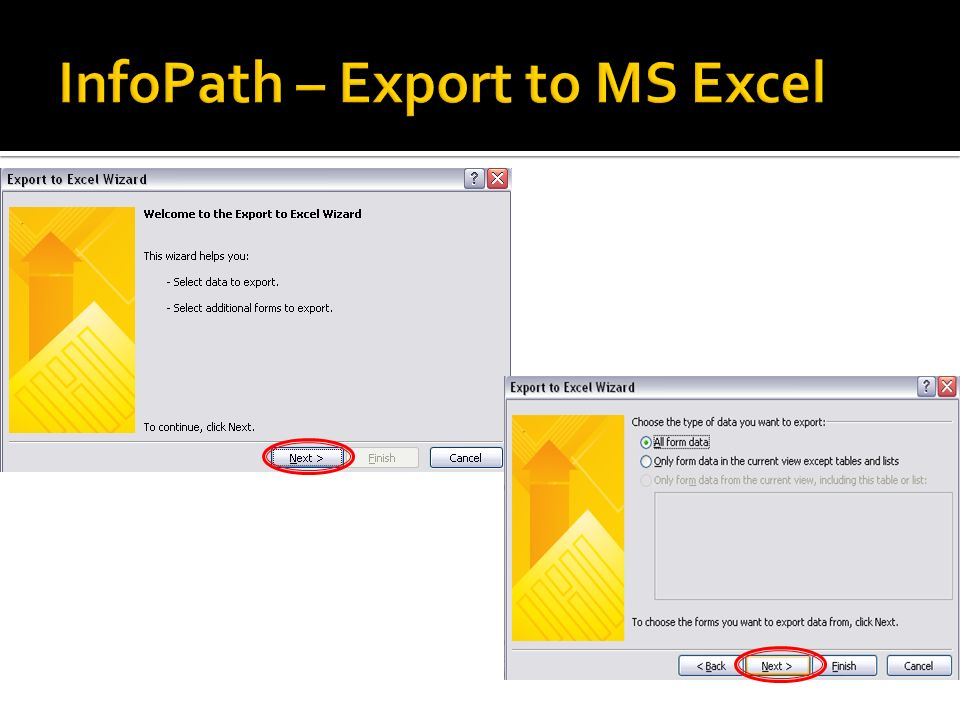 InfoPath – Export to MS Excel